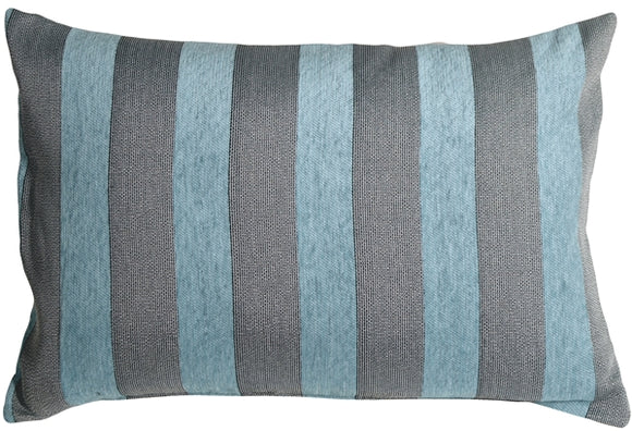 Brackendale Stripes Sea Blue Rectangular Throw Pillow  16x24