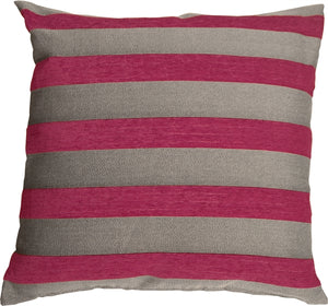 Brackendale Stripes Pink Throw Pillow 22x22