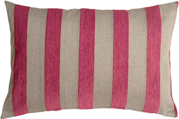 Brackendale Stripes Pink Rectangular Throw Pillow 16x24