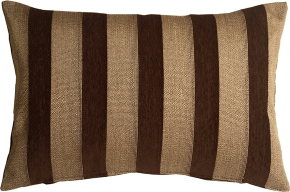 Brackendale Stripes Brown Rectangular Throw Pillow 16x24