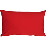 Caravan Cotton Red 12x19 Throw Pillow