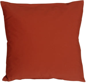 Caravan Cotton Rust 18x18 Throw Pillow