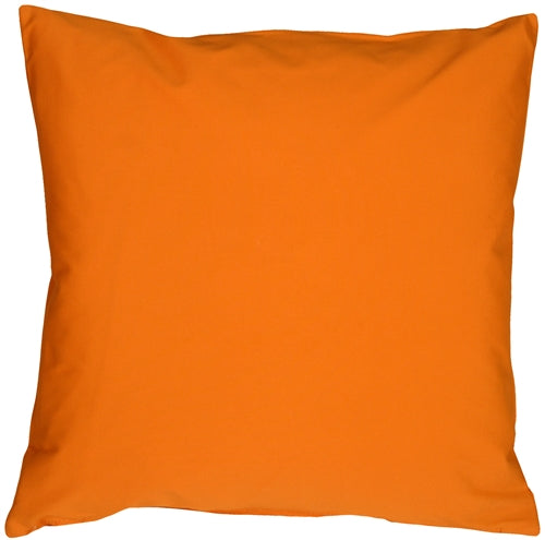 Caravan Cotton Orange 23x23 Throw Pillow