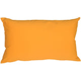 Caravan Cotton Amber Yellow 12x19 Throw Pillow