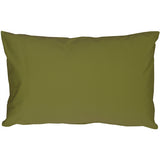 Caravan Cotton Olive Green 12x19 Throw Pillow
