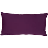 Caravan Cotton Purple 9x18 Throw Pillow