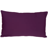Caravan Cotton Purple 12x19 Throw Pillow