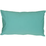 Caravan Cotton Turquoise 12x19 Throw Pillow