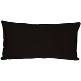 Caravan Cotton Black 9x18 Throw Pillow