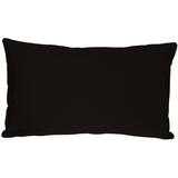 Caravan Cotton Black 12x19 Throw Pillow