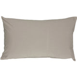 Caravan Cotton Light Gray 12x19 Throw Pillow