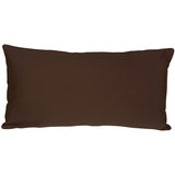 Caravan Cotton Brown 9x18 Throw Pillow