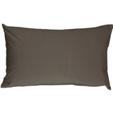Caravan Cotton Dark Gray 12x19 Throw Pillow