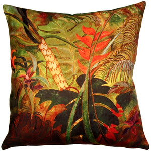 Exotic Flowers 20x20 Throw Pillow
