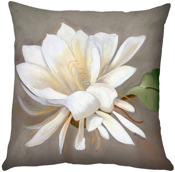 Cactus Flower Throw Pillow 20x20 SQ