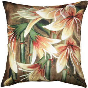 Belladonna Lily Throw Pillow 20x20