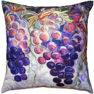 Purple Grapes 20x20 Throw Pillow