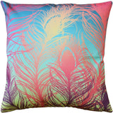 Peacock Feathers Pastel Throw Pillow 20x20