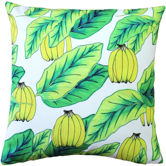 Banana Jungle Throw Pillow 20x20