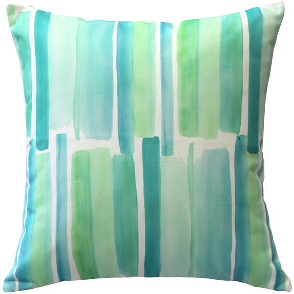 Beach Glass Blue Throw Pillow 20x20
