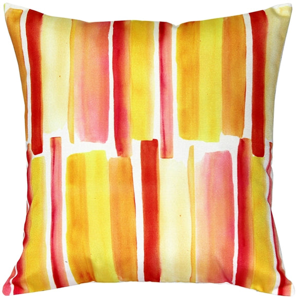 Beach Glass Orange Throw Pillow 20x20