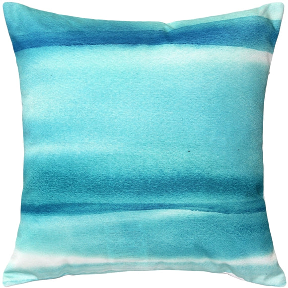 Lost Horizon Blue Throw Pillow 20x20