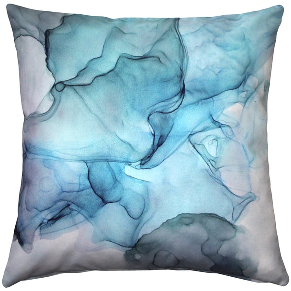 Khyber Haze Blue Throw Pillow 20x20