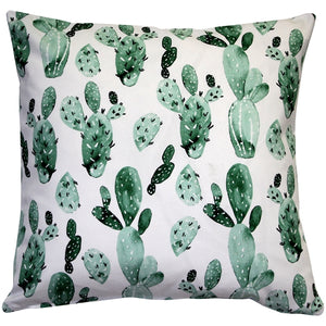 Cactus Motif Decorative Throw Pillow 20x20