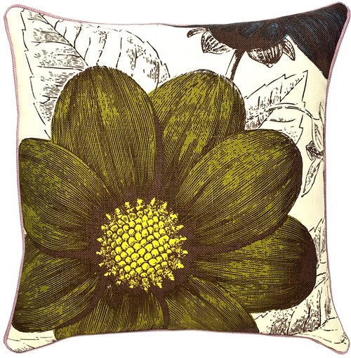 Thomas Paul Botany Grass 18X18 Throw Pillow