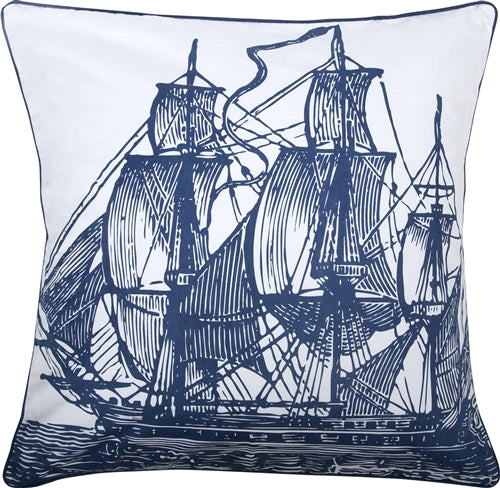 Thomas Paul Ship 18X18 Throw Pillow