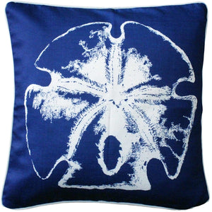 Hilton Head Sand Dollar Solitaire Throw Pillow 20x20