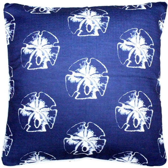 Hilton Head Sand Dollar Large Pattern Pillow 26x26