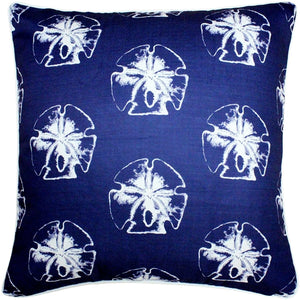 Hilton Head Sand Dollar Large Pattern Pillow 20x20