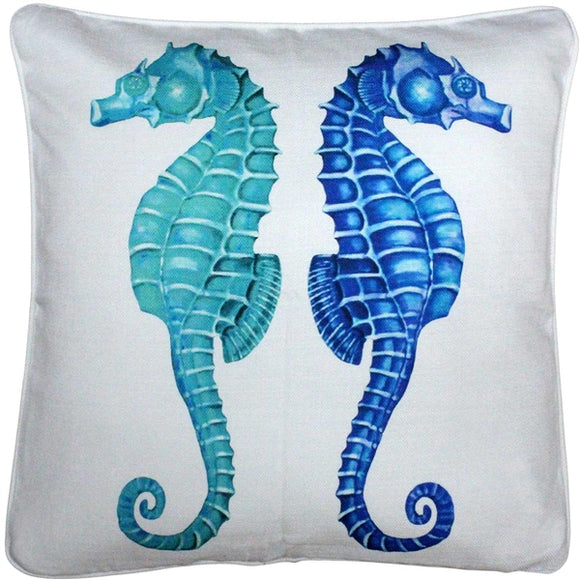 Capri Seahorse Reflect Throw Pillow 20x20