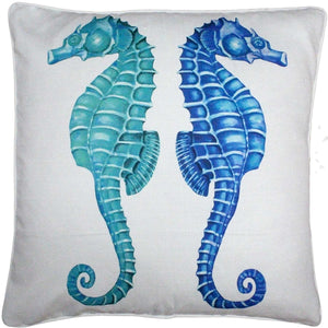 Capri Seahorse Reflect Throw Pillow 26x26