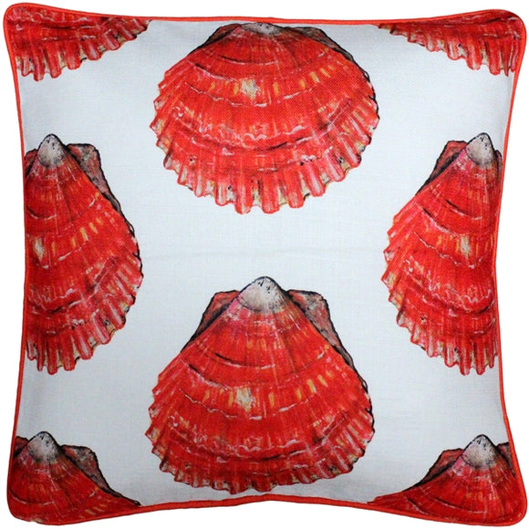 Big Island Bay Scallop Large Scale Print Throw Pillow 20x20