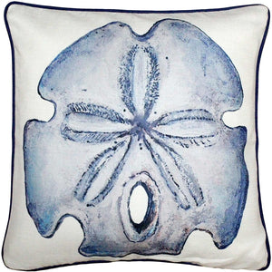 Big Island Sand Dollar Solitaire Throw Pillow 20x20