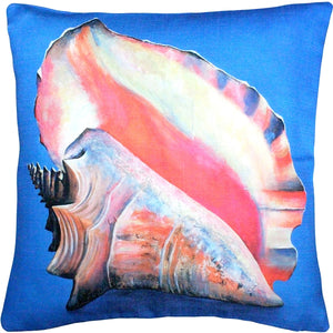 Captiva Queen Conch Throw Pillow 20x20