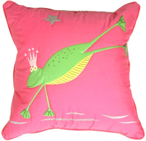 Quilted Freddie the Frog Children's Pillow