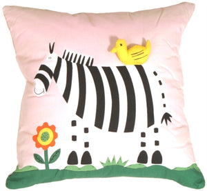 Quilted Zooey the Zebra Children's Pillow