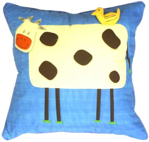 Quilted Clara the Cow Children's Pillow