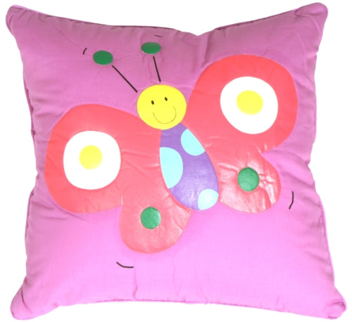 Quilted Biala the Butterfly Children's Pillow