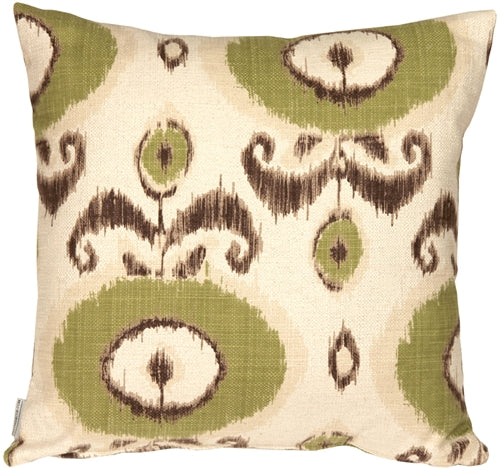 Bold Green Ikat 20x20 Throw Pillow