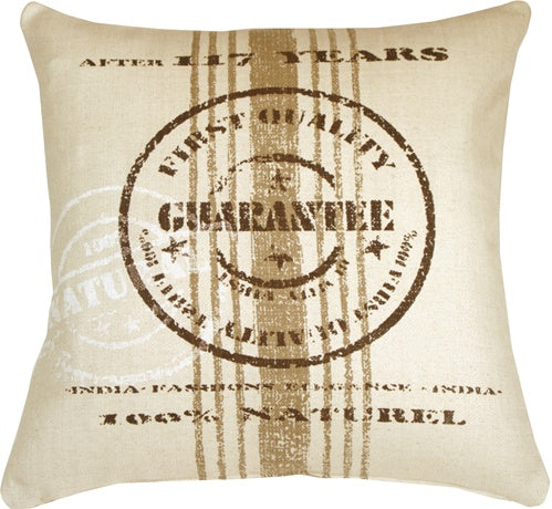 Quality Guarantee Brown Print Throw Pillow