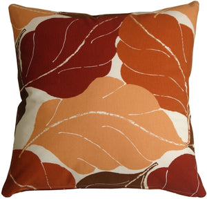 Autumn Leaves 20x20 Red Throw Pillow