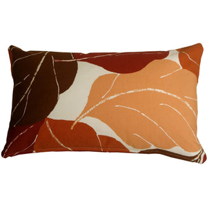 Autumn Leaves 12x20 Red Throw Pillow