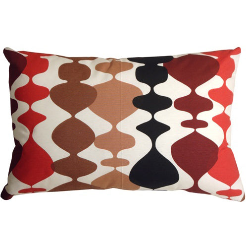 Lava Lamp Red 16x24 Throw Pillow