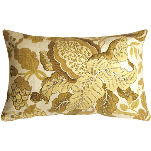 Harvest Floral Yellow 16x24 Throw Pillow