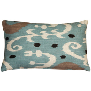 Indah Ikat Blue 12x20 Throw Pillow