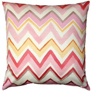 Pacifico Stripes Pink Throw Pillow 20X20